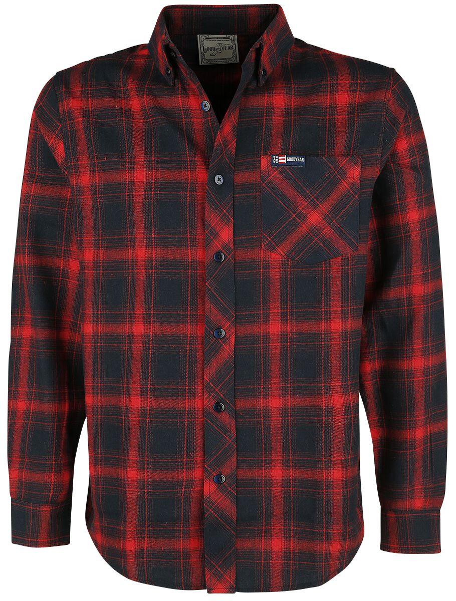 Image of GoodYear - Heavy Flannel - Camicia in flanella - Uomo - rosso