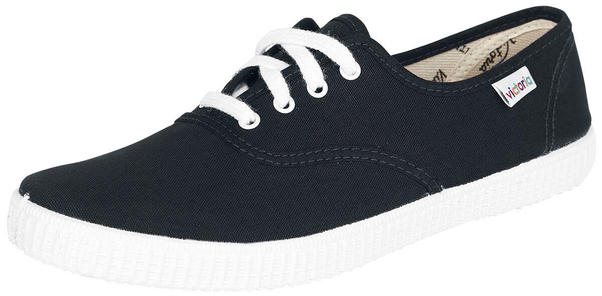 Sneakers für Frauen - Victoria Inglesa Lona Sneaker schwarz weiß  - Onlineshop EMP