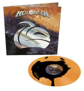 Image of Helloween Skyfall 12 inch-Single orange/schwarz