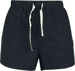 Schwarze kurze Shorts mit Schnürung
