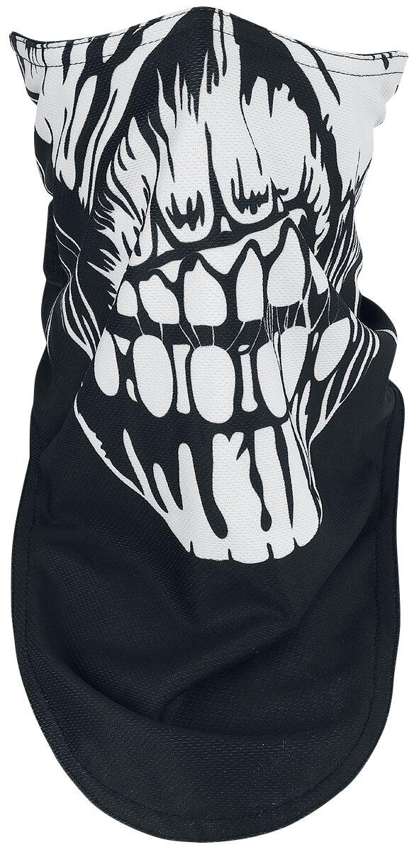 Iron Maiden Book Of Souls Biker Mask  Maske  schwarz/weiß/rot