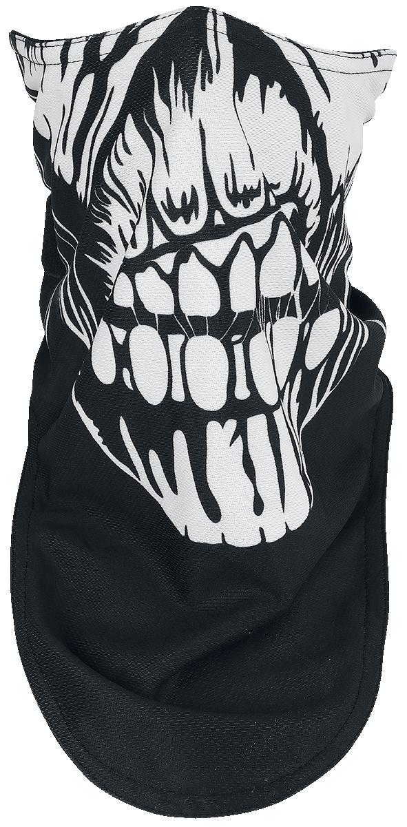Iron Maiden - Book Of Souls Biker Mask - Maske - schwarz  weiß  rot - EMP Exklusiv!