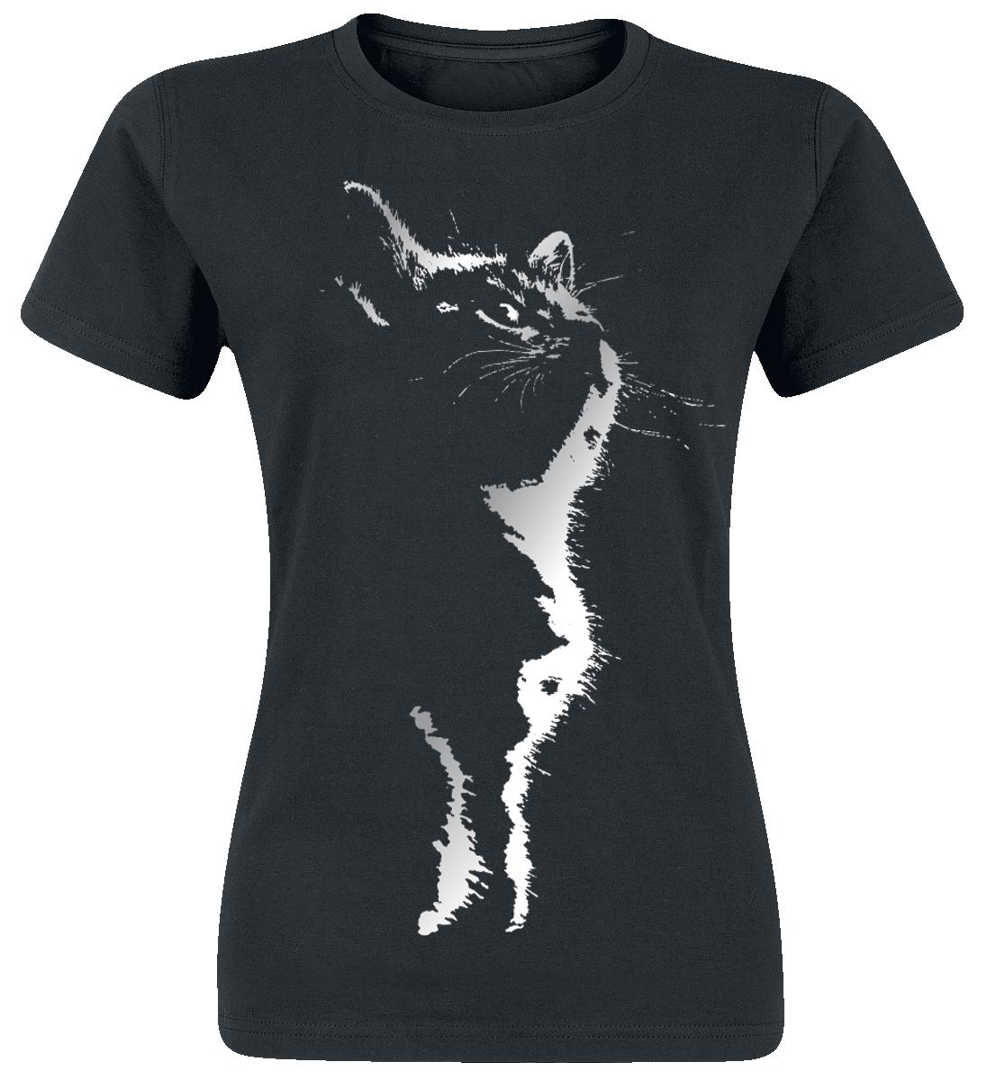 Cat Silhouette -  - Girls shirt - black image