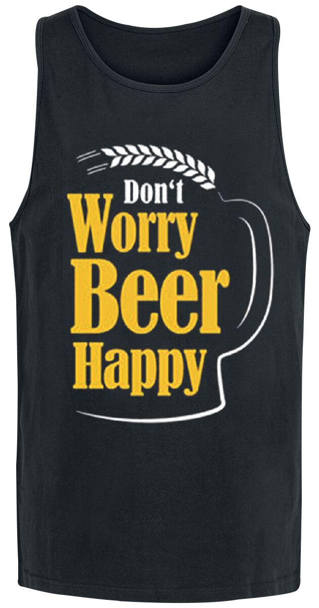 Don`t Worry Beer Happy Tanktop black