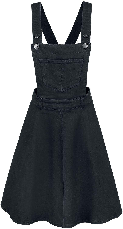 Kleider - Hell Bunny Dakota Pinafore Dress Mittellanges Kleid schwarz  - Onlineshop EMP