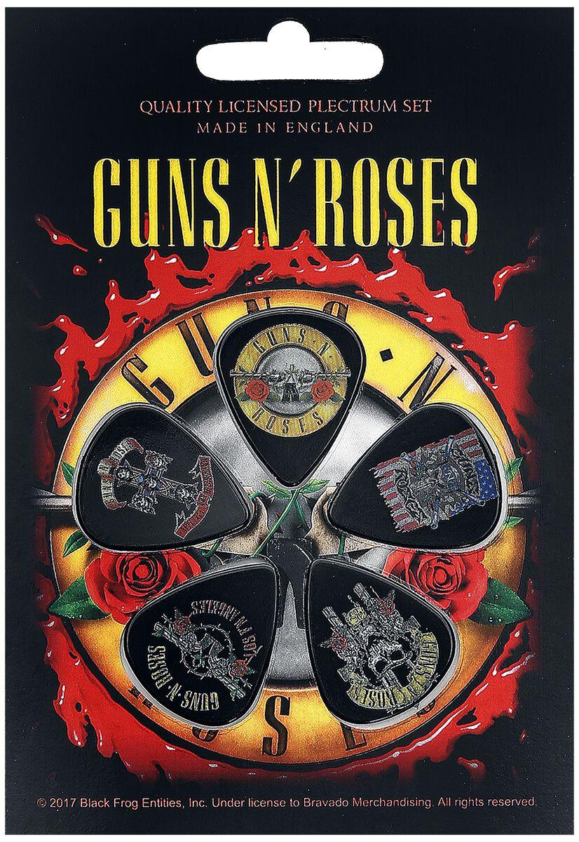 Guns N' Roses Bullet Logo  Plektren-Set  multicolor