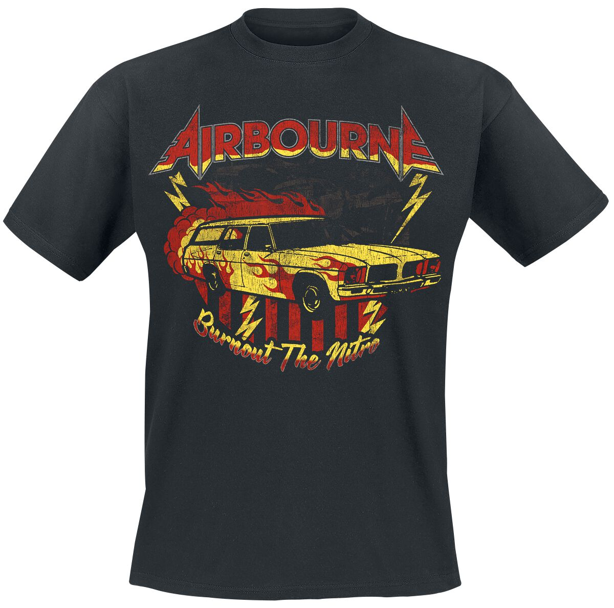Image of Airbourne Nitro Vintage T-Shirt schwarz