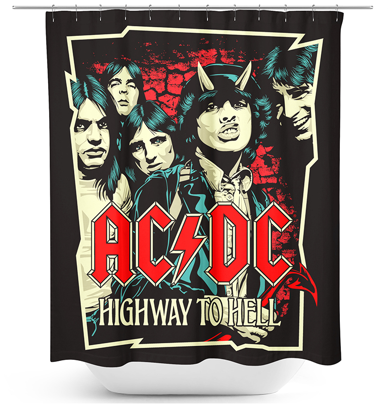 AC/DC - Highway To Hell - Duschvorhang - multicolor