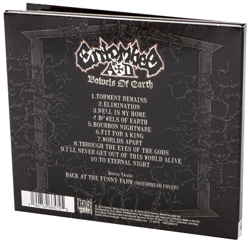 Image of Entombed A.D. Bowels of earth CD & Patch Standard