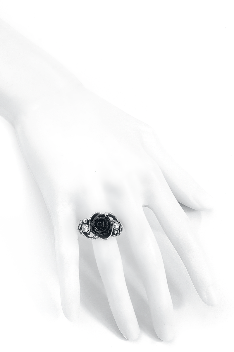 Image of Alchemy Gothic Bacchanal Rose Ring Ring silberfarben