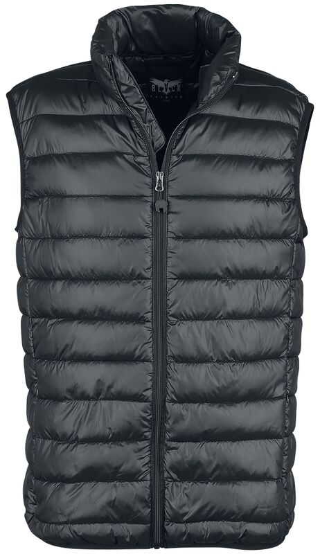 Schwarze Steppweste Black Premium