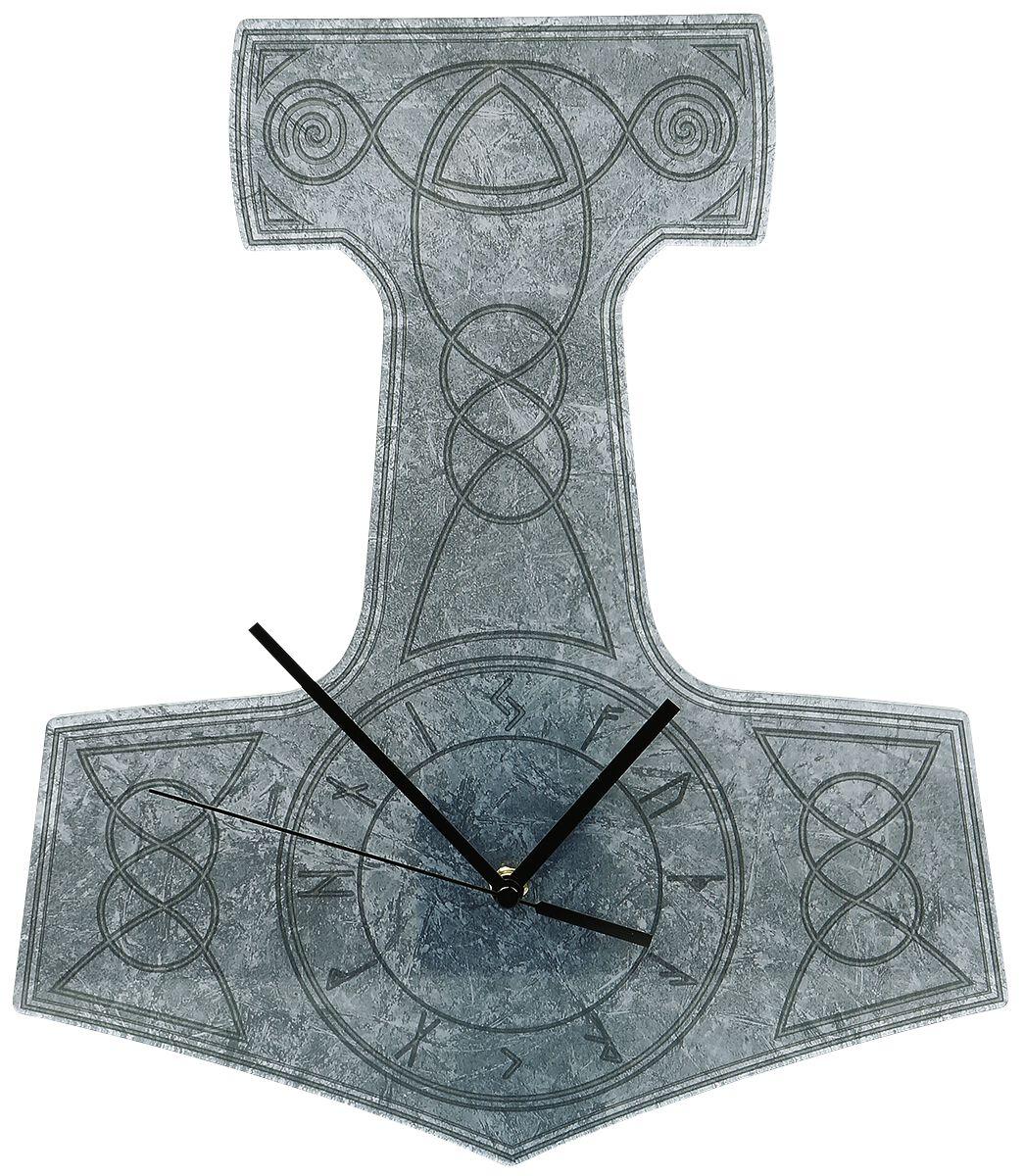 Image of Acryl-Wanduhr Thor's Hammer Wanduhr grau