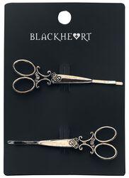 Bronze Scissor Barrettes Set