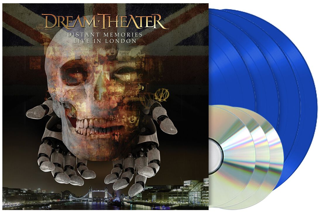 Image of Dream Theater Distant memories - Live in London 4-LP & 3-CD blau