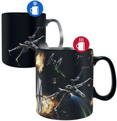Space Battle - Tasse mit Thermoeffekt