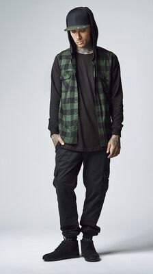 Washed Cargo Twill Jogging Pants
