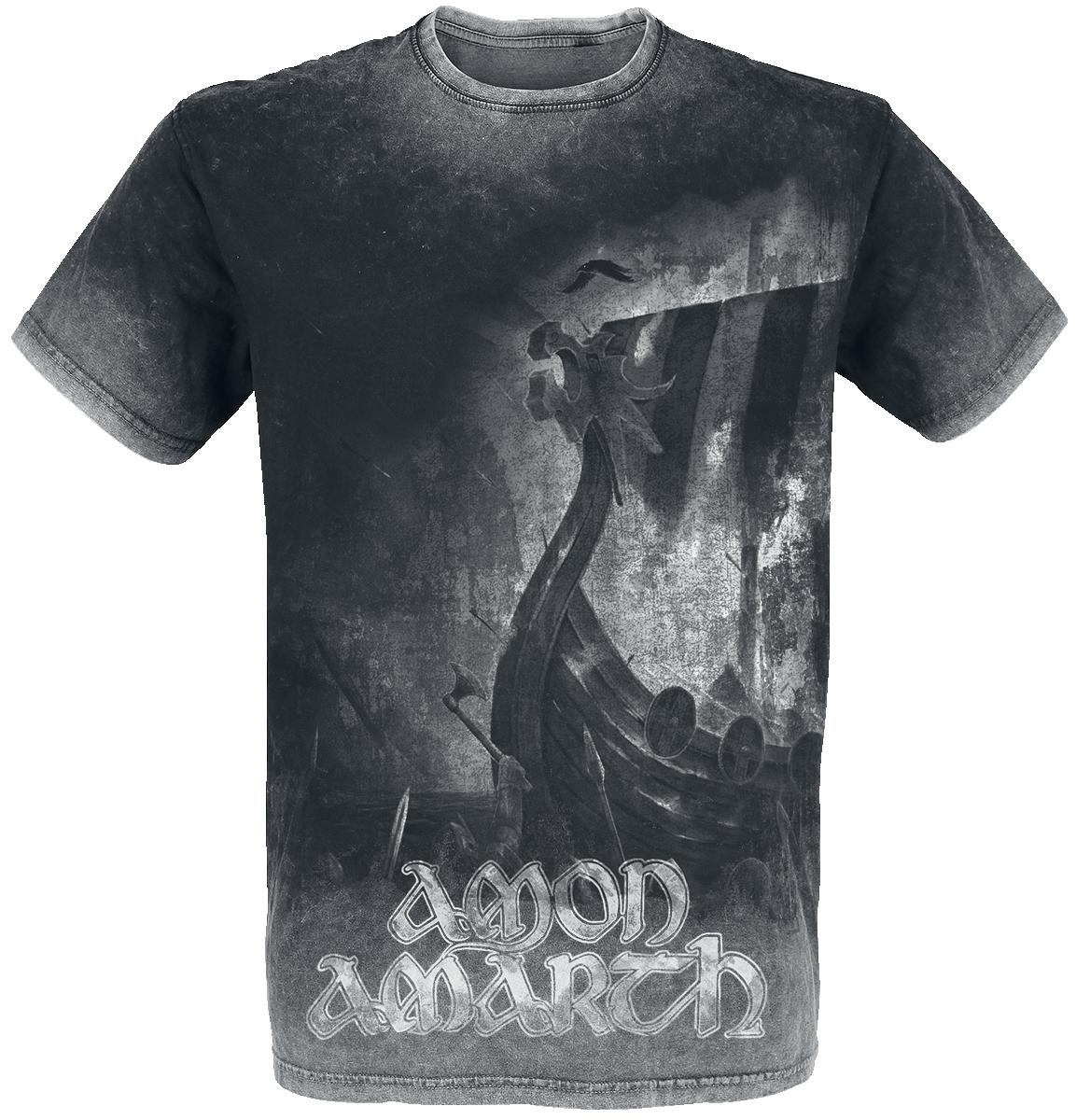 Amon Amarth - One Thousand Burning Arrows - T-Shirt - charcoal image
