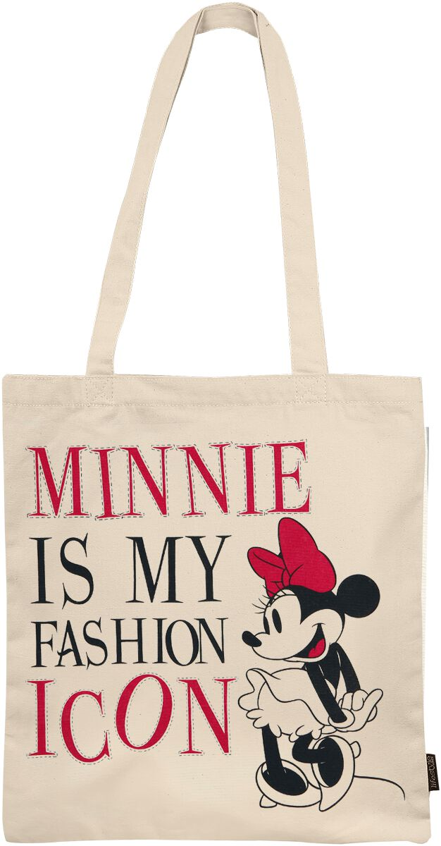 Fanprodukter Mickey Mouse Minnie Is My Fashion Icon Stoffveske flerfarget