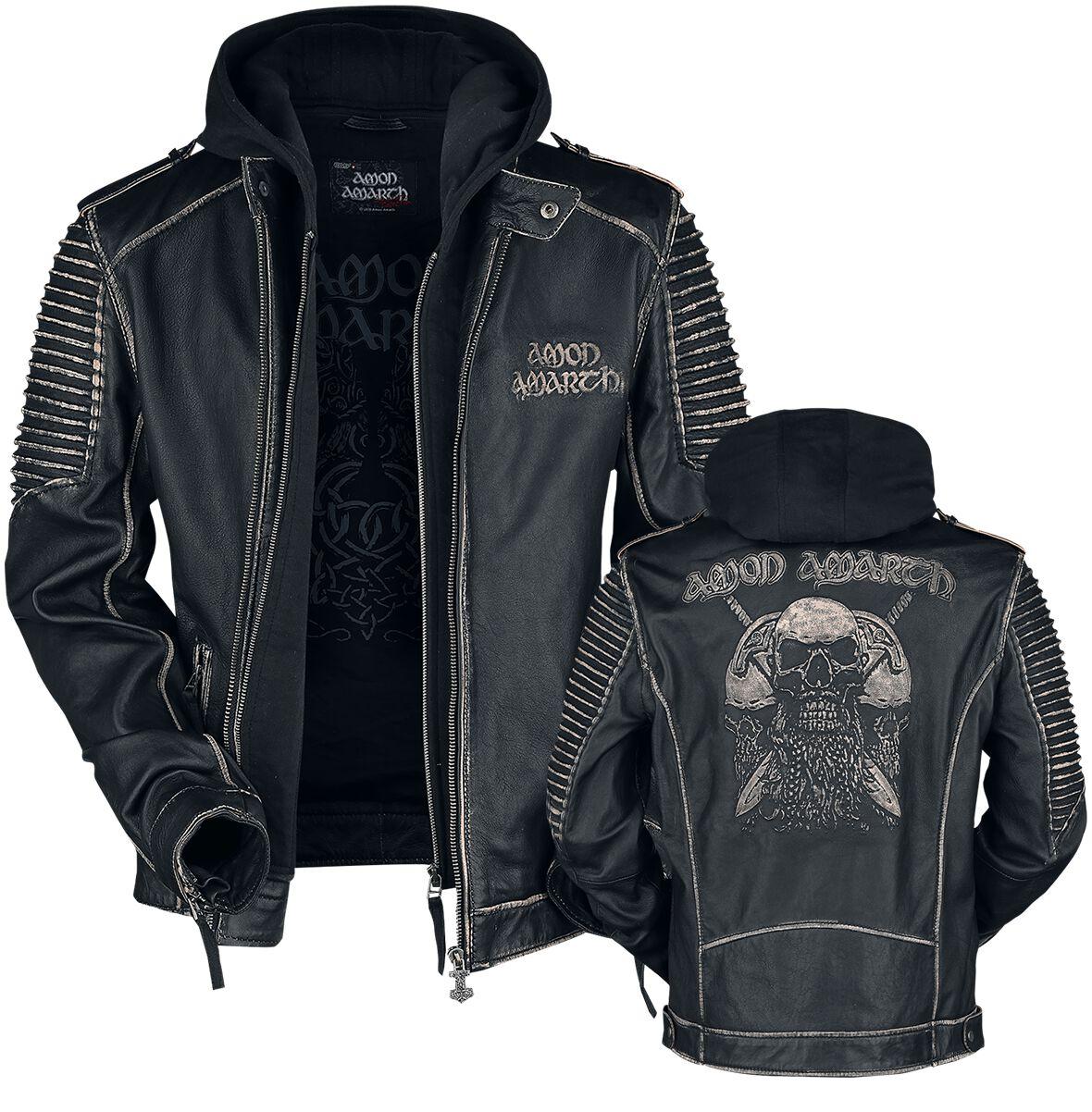 Image of Amon Amarth EMP Signature Collection Leder-Jacke schwarz