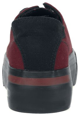 Dunkelrote Sneaker mit Plateau-Sohle