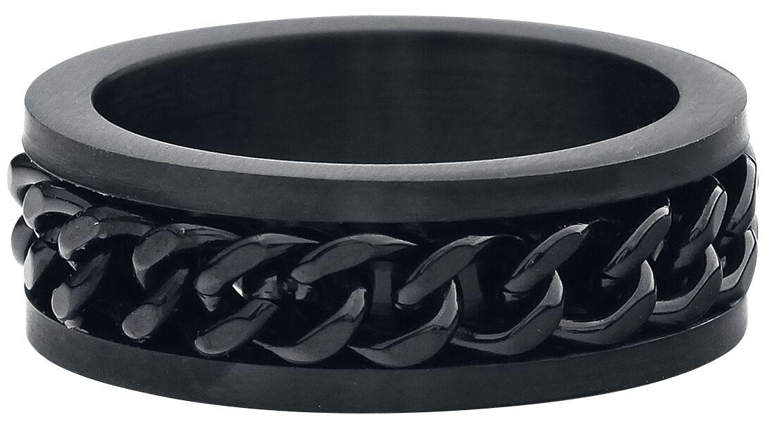 Ringe für Frauen - etNox hard and heavy Mesh Steel Ring schwarz  - Onlineshop EMP