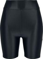 Ladies Highwaist Shiny Metallic Cycle Shorts