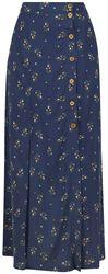 Spring Sprig Print Long Line Skirt