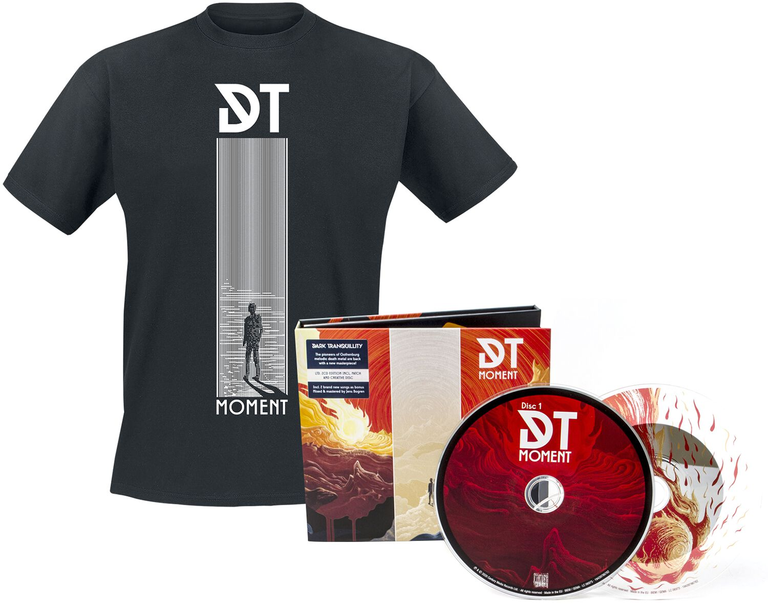 Image of Dark Tranquillity Moment 2-CD & Patch & T-Shirt Standard