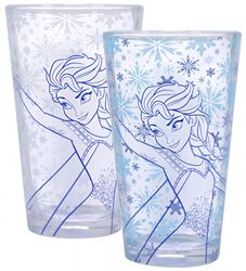 Die Eiskönigin Elsa - Glas mit Thermoeffekt