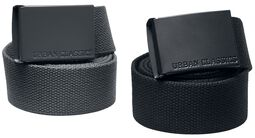 Colored Buckle Canvas Belt 2-Pack