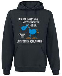 Blauer Mustang