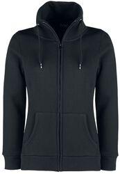 Schwarze Sweatshirtjacke mit Stehkragen