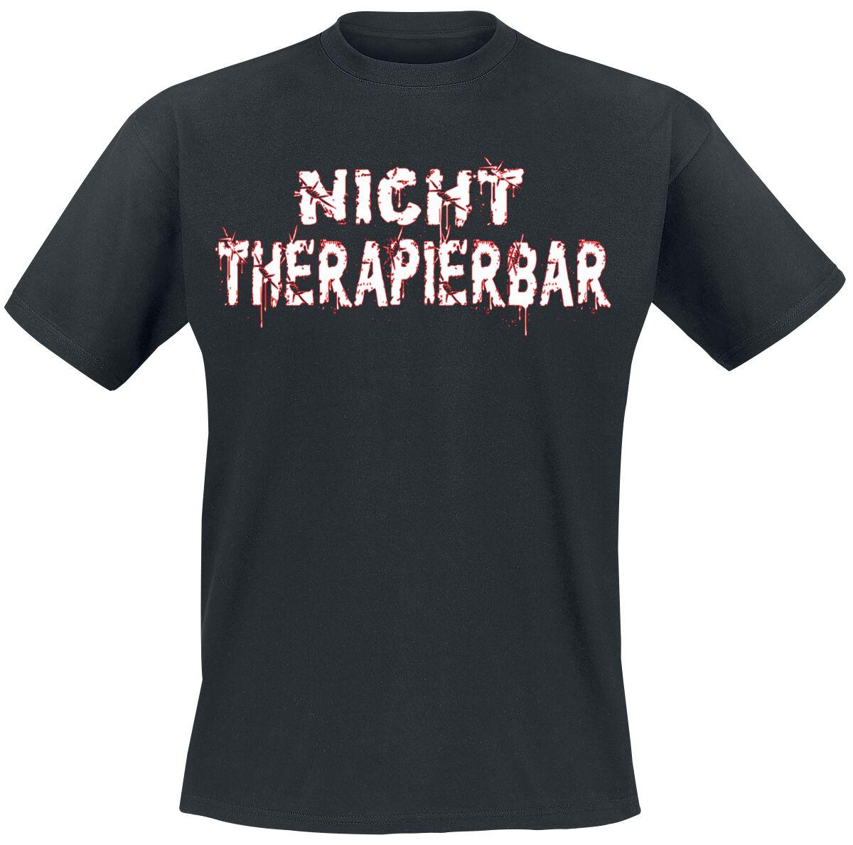 Nicht therapierbar T-Shirt schwarz POD Gildan 64000