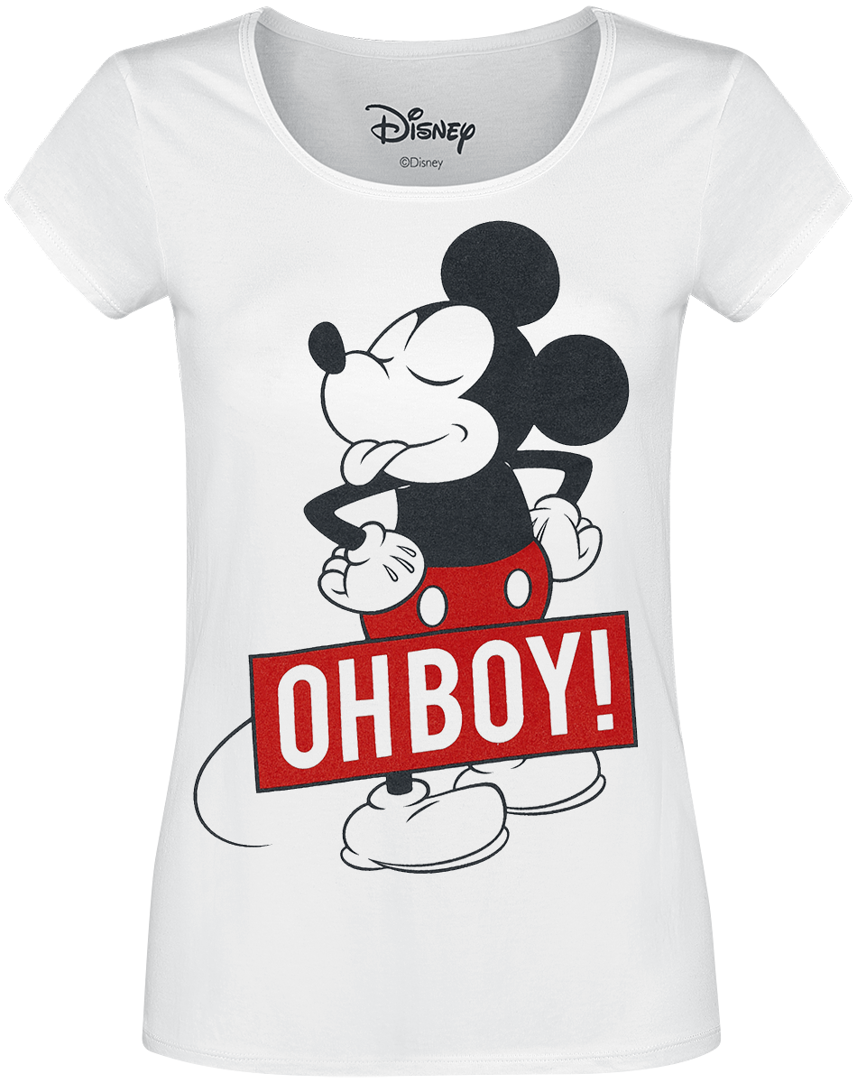 Mickey Mouse - Oh Boy - Girls shirt - white image