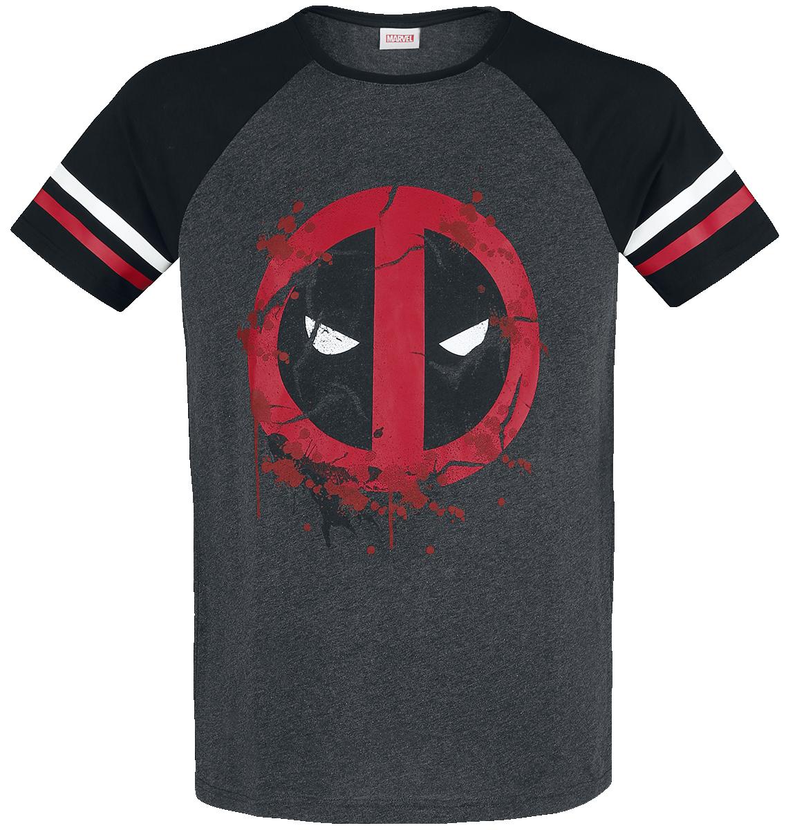 Deadpool - Symbol - T-Shirt - mixed grey-black image