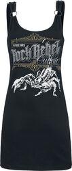 Schwarzer Kleid mit Frontprint