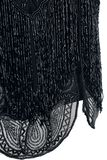 Beatrice Black Fringe Dress