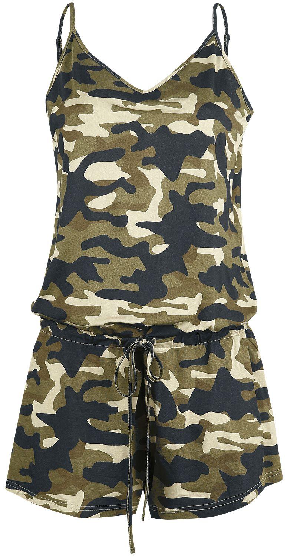 Black Premium by EMP Grüner kurzer Jumpsuit mit Camouflage-Muster Jumpsuit grün M408352