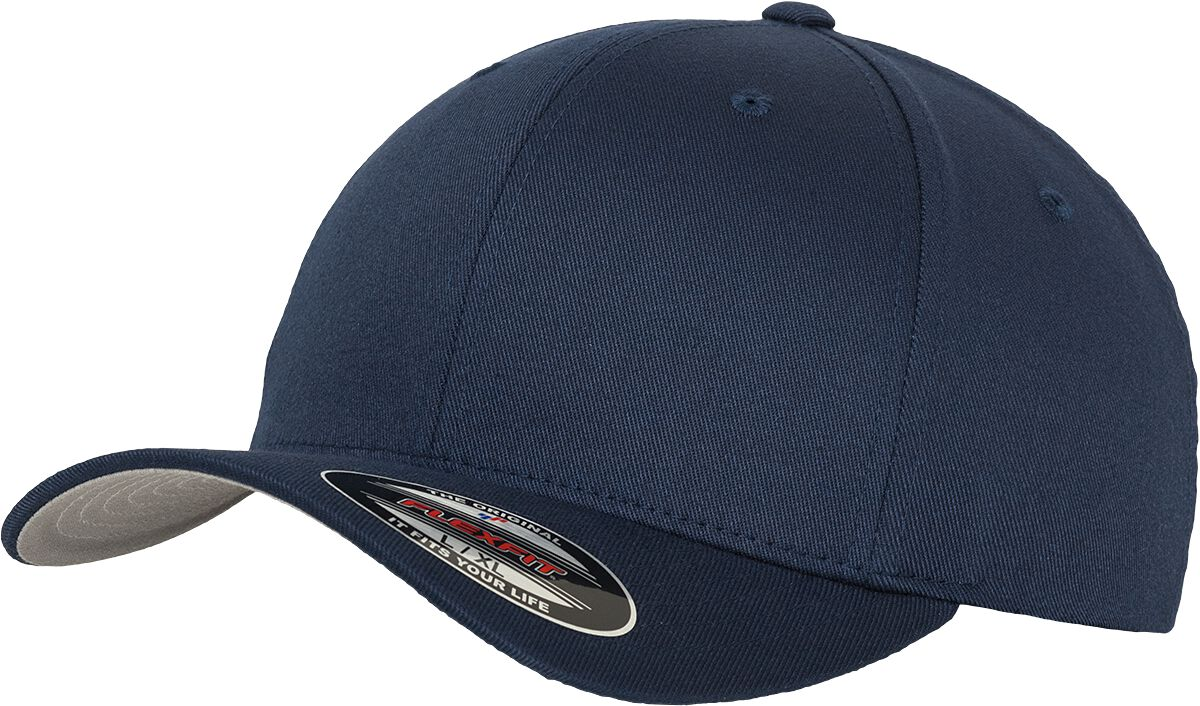Image of Flexfit Wooly Combed Flexcap navy