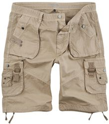Sandfarbene Army Shorts mit praktischen Taschen