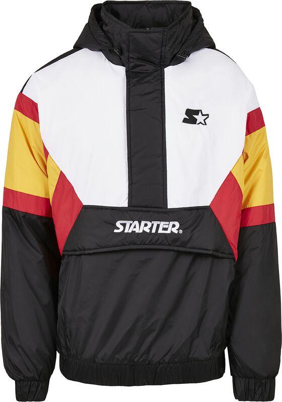 Color Block Half Zip Retro Jacket