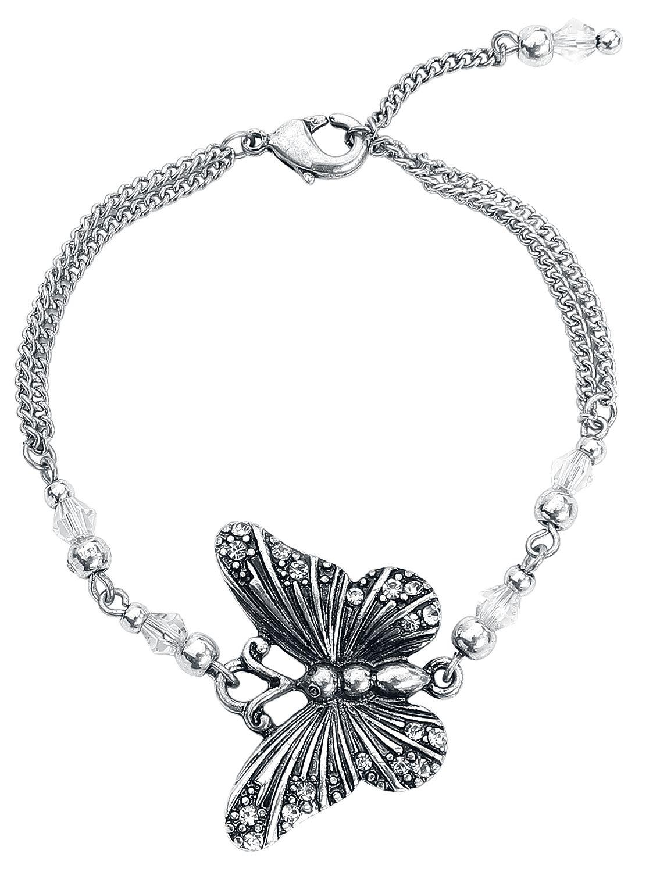 Wildkitten® Butterfly Bracelet Armband silberfarben BGB26