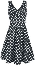 May Stylish V-Neck Polka Swing Dress
