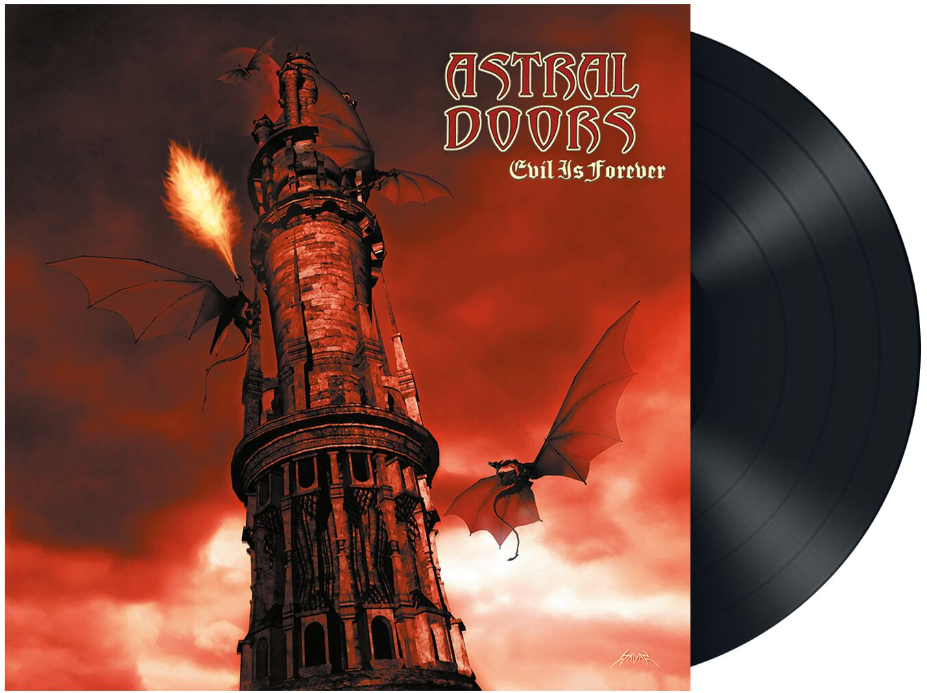 Image of Astral Doors Evil is forever LP rot
