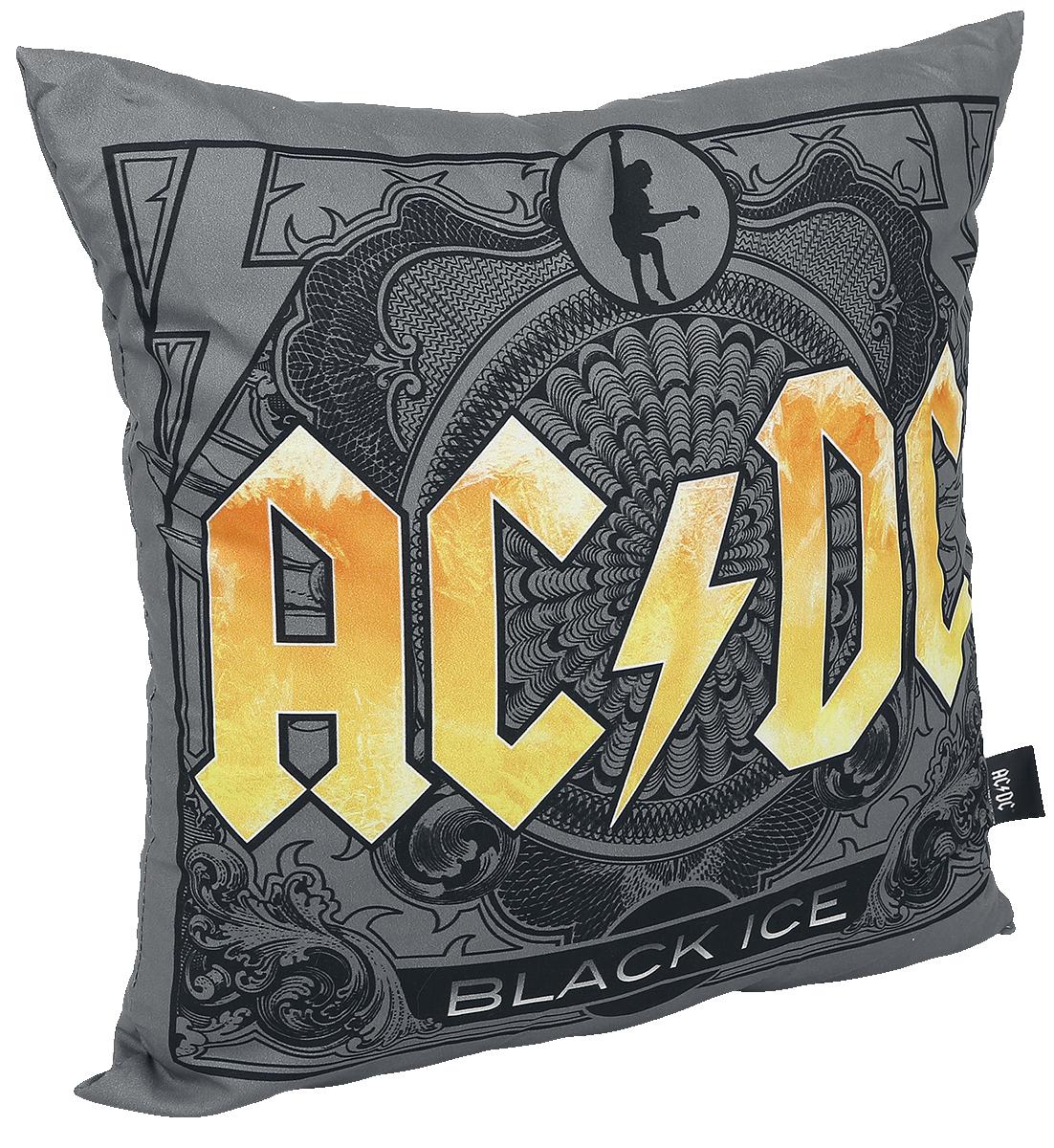 AC/DC - Black Ice - Kissen - grau| gelb