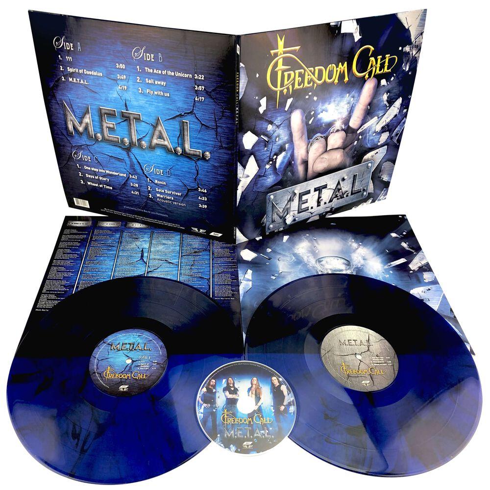 Image of Freedom Call M.E.T.A.L. 2-LP & CD blau/schwarz