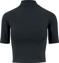 Ladies Cropped Turtleneck Tee