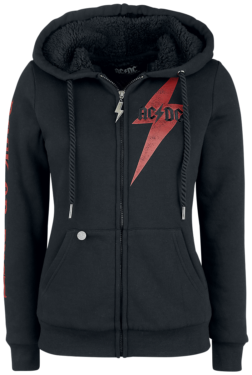 AC/DC - EMP Signature Collection - Girls hooded zip - black image