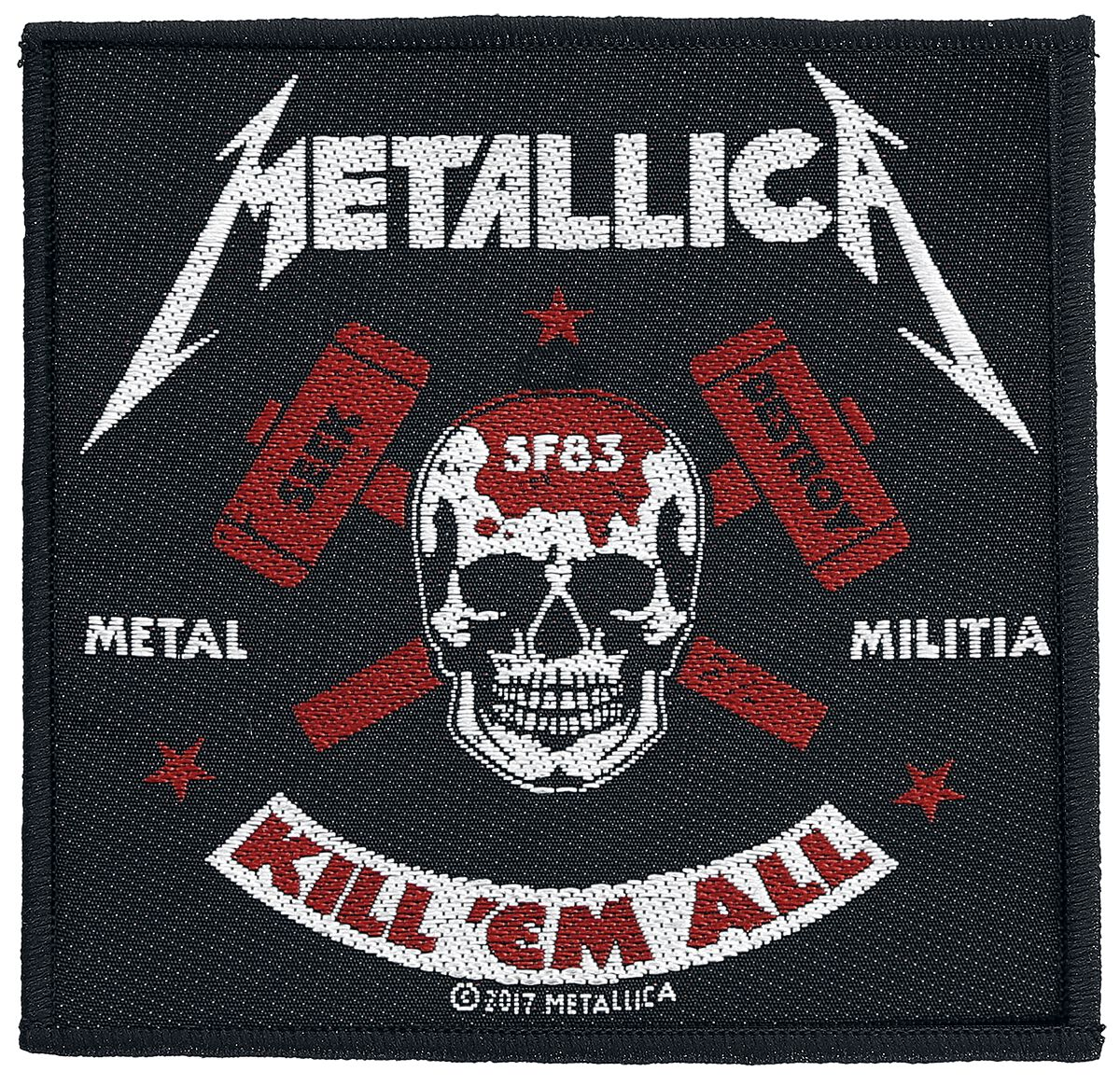 Metallica  Metal Militia  Patch  multicolor
