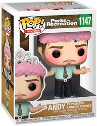 Parks And Recreation Andy as Princess Rainbow Sparkle Vinyl Figur 1147